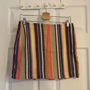 NWOT H&M colourful/shiny skirt